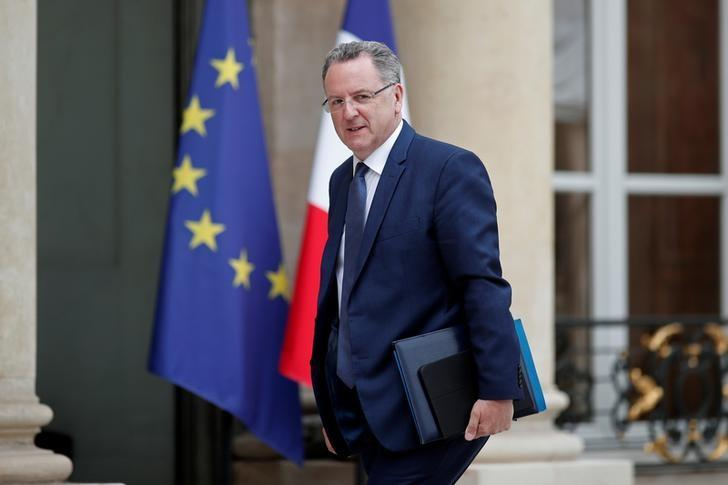 FILE PHOTO: French Territorial Cohesion Minister Richard Ferrand arrives at the Elysee Palace before a weekly cabinet meeting in Paris, France, May 24, 2017. REUTERS/Benoit Tessier