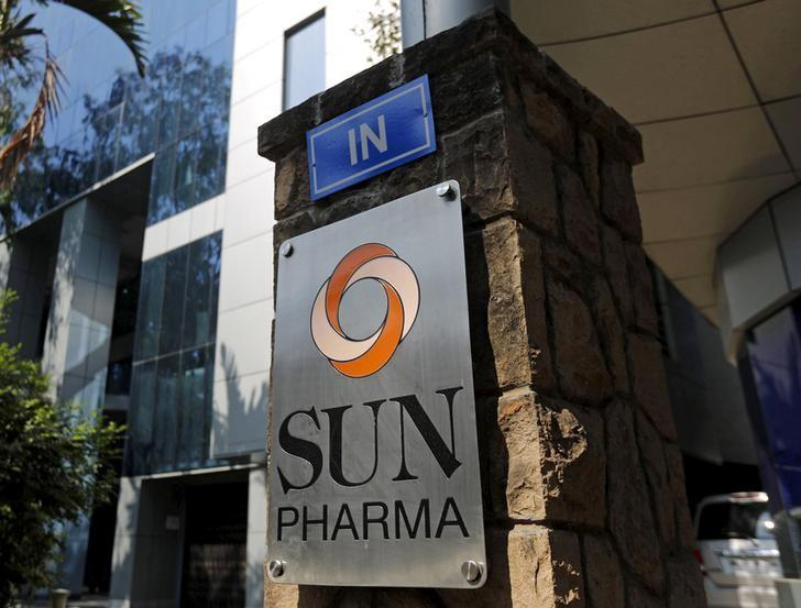 A logo of Sun Pharmaceutical Industries Ltd is pictured at its research and development center in Mumbai, India, December 21, 2015.  REUTERS/Shailesh Andrade/files