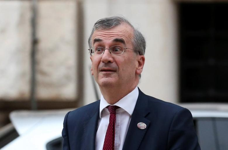 Governor of the Bank of France Francois Villeroy de Galhau arrives at the Petruzzelli Theatre during a G7 for Financial ministers in the southern Italian city of Bari, Italy May 11, 2017. REUTERS/Alessandro Bianchi