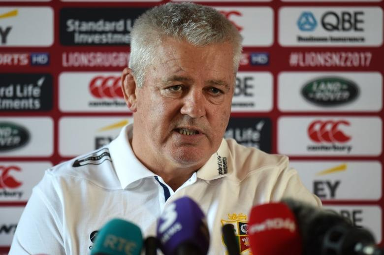 British & Irish Lions Training & Press Conference - Carton House, Co. Kildare, Ireland - 22/5/17 British & Irish Lions Head Coach Warren Gatland during the press conference Reuters  / Clodagh Kilcoyne Livepic