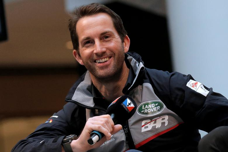 FILE PHOTO: Skipper Ben Ainslie of Land Rover BAR speaks at a news conference ahead of competing in the America's Cup World Series sailing event in New York City, U.S., May 5, 2016.   REUTERS/Brendan McDermid
