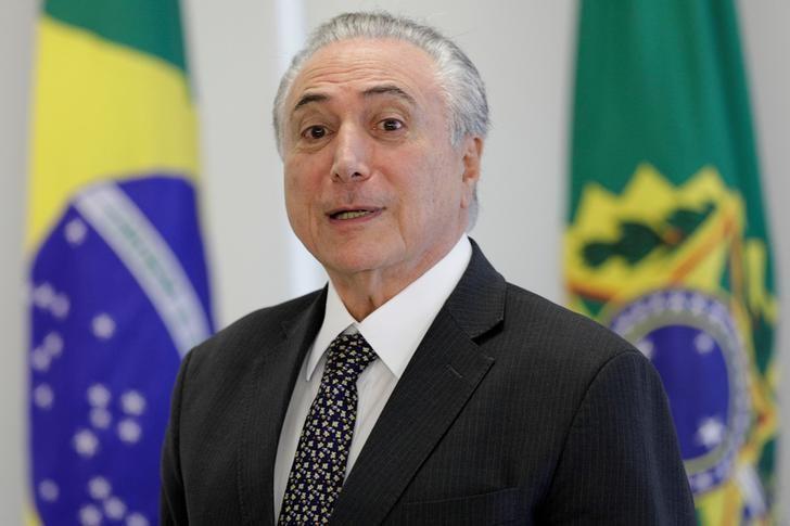 Presidente Michel Temer durante reunião no Palácio do Planalto, em Brasília25/05/2017REUTERS/Ueslei Marcelino