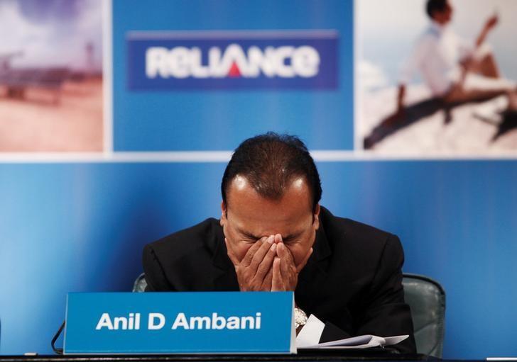FILE PHOTO: Anil Ambani, Chairman of the Reliance Anil Dhirubhai Ambani Group, attends the annual general meeting of Reliance Communication in Mumbai, India September 4, 2012. REUTERS/Danish Siddiqui/File Photo