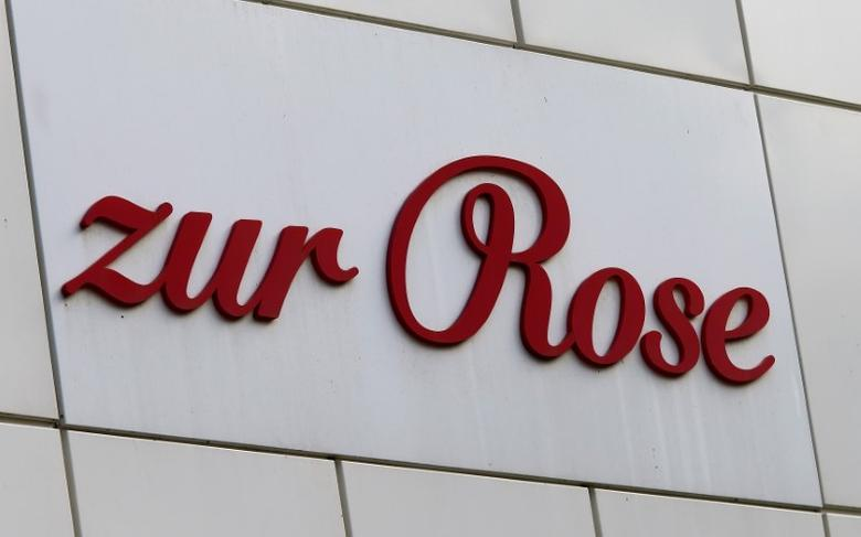The logo of Swiss-based mail-order pharmacy and medical supplier Zur Rose Group is seen at the company's headquarters in Frauenfeld, Switzerland May 9, 2017.  REUTERS/Arnd Wiegmann