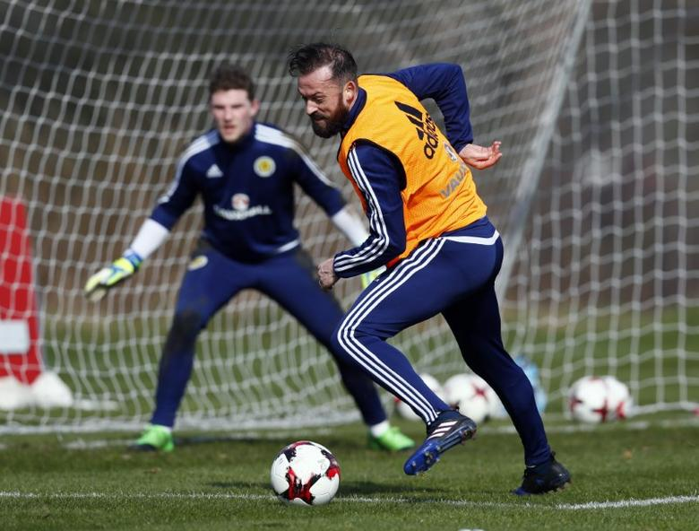Britain Football Soccer - Scotland Training - Mar Hall, Bishopton, Scotland - 23/3/17 Scotland's Steven Fletcher during training Action Images via Reuters / Jason Cairnduff Livepic