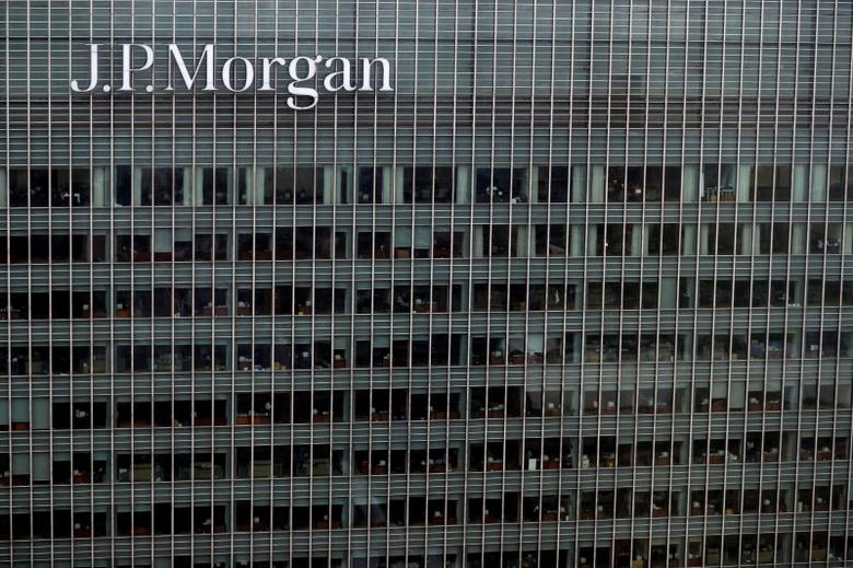 A J.P. Morgan building is seen at Canary Wharf in London, Britain May 17, 2017. REUTERS/Stefan Wermuth