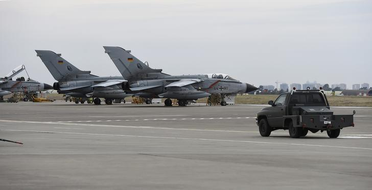 FILE PHOTO: German Tornado jets are pictured on the ground at the air base in Incirlik, Turkey, January 21, 2016. REUTERS/Tobias Schwarz/Pool