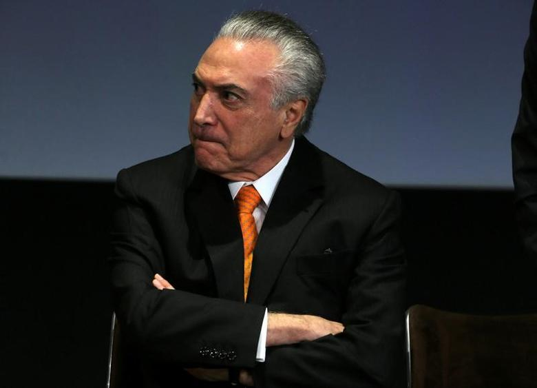 Brazil's President Michel Temer attends the Brazil Investment Forum 2017, in Sao Paulo, Brazil May 30, 2017.  REUTERS/Paulo Whitaker