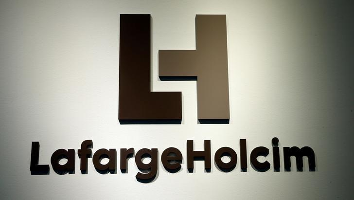 The logo of LafargeHolcim, the world's largest cement maker, is seen at its headquarters in Zurich, Switzerland March 2, 2017.  REUTERS/Arnd Wiegmann