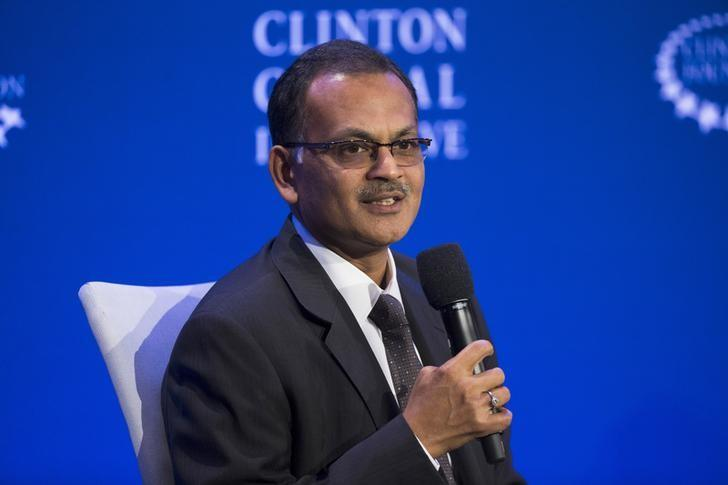 Hemant Kanoria, chairman of Srei Infrastructure Finance Limited, speaks on a panel during the Clinton Global Initiative's annual meeting in New York, September 29, 2015.  REUTERS/Lucas Jackson /Files