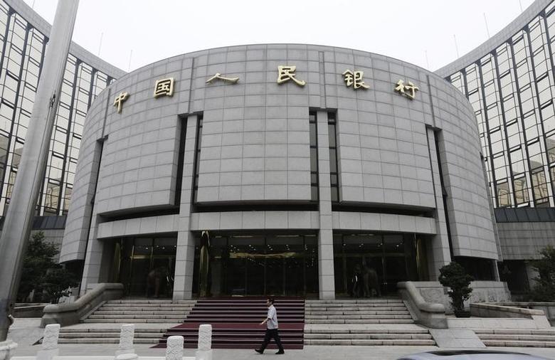 资料图片:2013年6月,中国央行总部大楼。REUTERS/Jason Lee