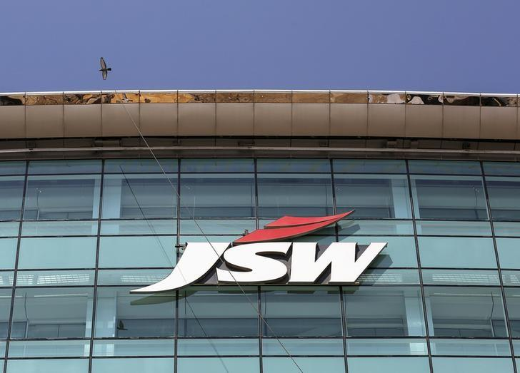The logo of JSW is seen on the company's headquarters in Mumbai, India, February 11, 2016. REUTERS/Danish Siddiqui/File Photo