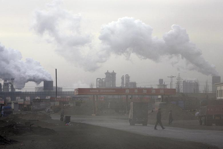 1: China is the largest emitter of carbon dioxide in the world, according to the most recent data from the Global Carbon Project. China emits about 10,357 million metric tons per year. REUTERS/Jason Lee