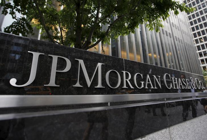 A view of the exterior of the JP Morgan Chase & Co. corporate headquarters in New York City May 20, 2015.  REUTERS/Mike Segar/Files -