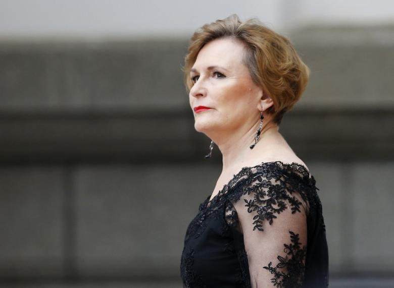Democratic Alliance (DA) leader Helen Zille arrives for President Jacob Zuma's Sate of the Nation address at the opening session pf Parliament in Cape Town, February 12, 2015. REUTERS/Mike Hutchings/Files