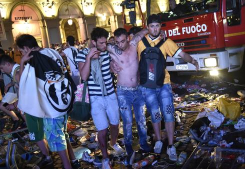 Juventus fans injured in stampede in Turin