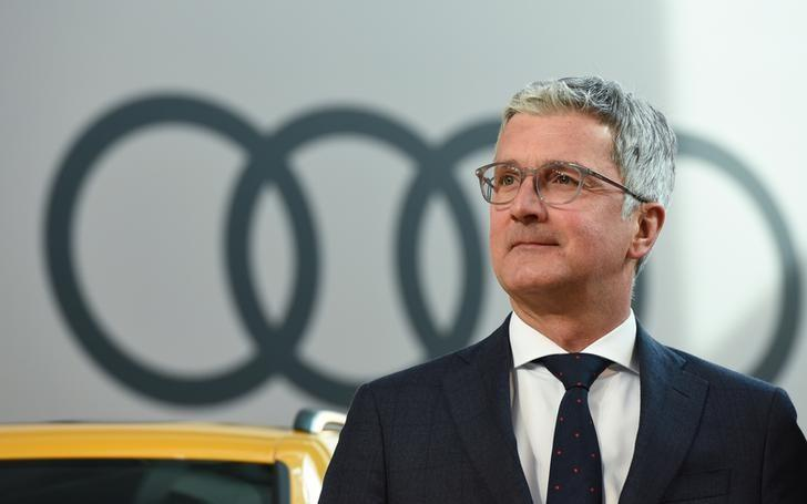 FILE PHOTO: Audi CEO, Rupert Stadler arrives for the company's annual news conference in Ingolstadt, Germany, March 15, 2017.      REUTERS/Lukas Barth