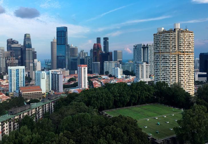 资料图片:2017年3月,新加坡城市天际线。REUTERS/Woo Yiming