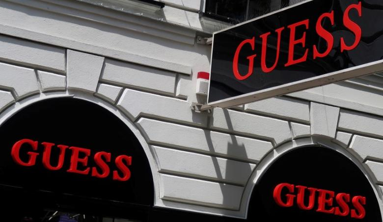 The logo of U.S. clothing manufacturer Guess is seen outside a store in Vienna, Austria, June 4, 2016.    REUTERS/Leonhard Foeger