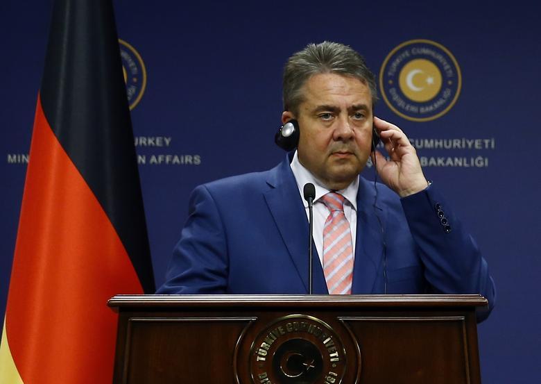 German Foreign Minister Sigmar Gabriel attends a news conference in Ankara, Turkey, June 5, 2017. REUTERS/Umit Bektas