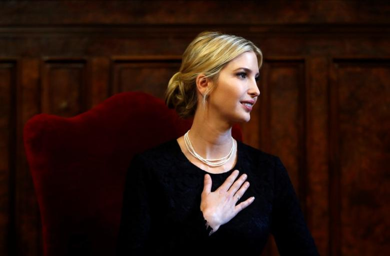 Ivanka Trump looks on during a meeting at the Sant' Egidio Christian community in Rome, Italy, May 24, 2017. REUTERS/Yara Nardi/Files
