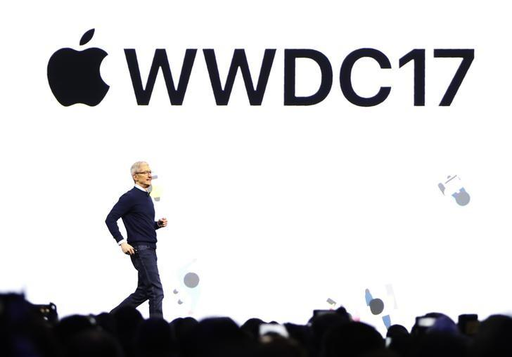 Tim Cook, CEO, speaks during Apple's annual world wide developer conference (WWDC) in San Jose, California, U.S. June 5, 2017. REUTERS/Stephen Lam