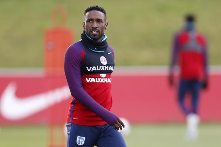Britain Football Soccer - England Training - St. George's Park, Burton upon Trent - June 6, 2017 England's Jermain Defoe during training Action Images via Reuters / Carl Recine Livepic