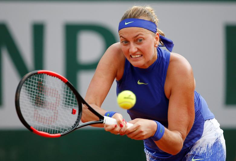 Tennis - French Open - Roland Garros, Paris, France - 28/5/17Czech Republic's Petra Kvitova in action during her first round match against USA's Julia BoserupReuters / Pascal Rossignol