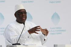 Senegal's President Macky Sall speaks during the World Government Summit in Dubai, United Arab Emirates, February 12, 2017. REUTERS/Stringer