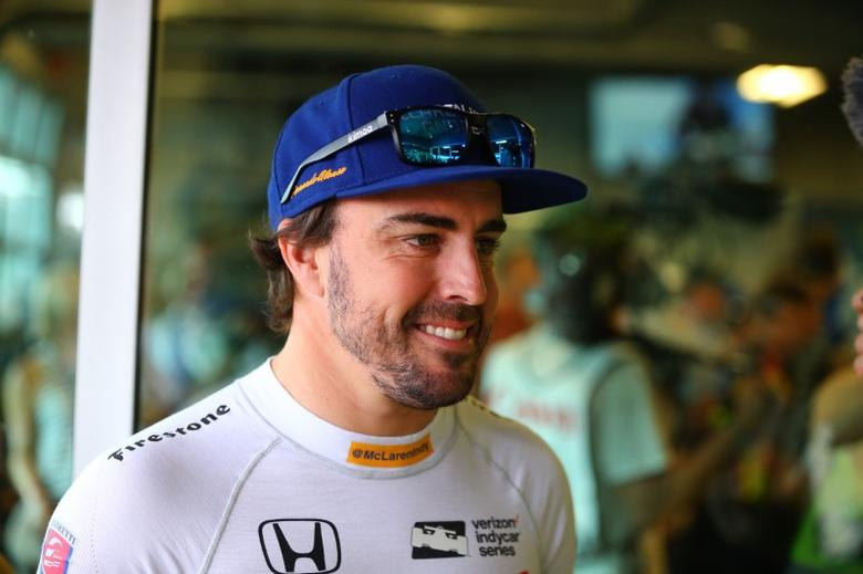 May 28, 2017; Indianapolis, IN, USA; IndyCar Series driver Fernando Alonso prior to the 101st Running of the Indianapolis 500 at Indianapolis Motor Speedway. Mandatory Credit: Mark J. Rebilas-USA TODAY Sports