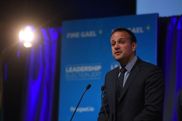 Leo Varadkar makes his acceptance speech at the count centre as he wins the Fine Gael parliamentary elections to replace Prime Minister of Ireland (Taoiseach) Enda Kenny as leader of the party in Dublin, Ireland June 2, 2017. REUTERS/Clodagh Kilcoyne/Files