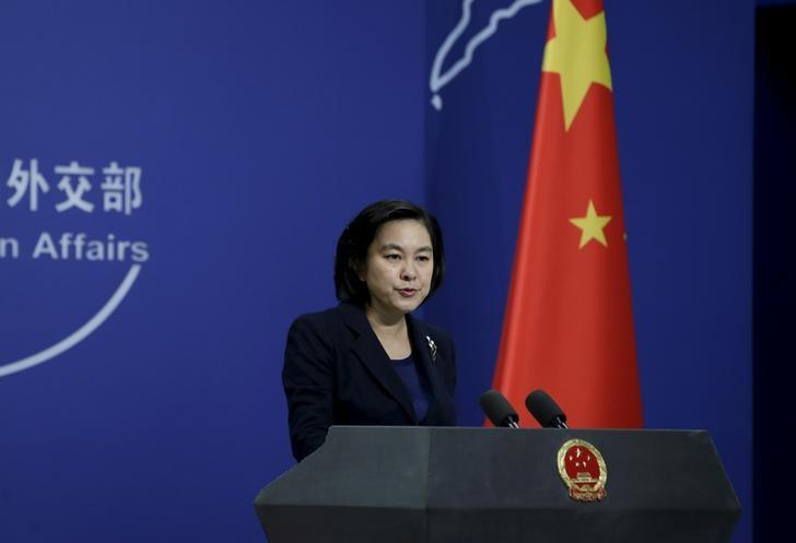 Hua Chunying, spokeswoman of China's Foreign Ministry, speaks at a regular news conference in Beijing, China, January 6, 2016. China's Foreign Ministry said on Wednesday that Beijing did not have advance knowledge of North Korea's test of a miniaturized hydrogen nuclear device, adding that it firmly opposes Pyongyang's action. REUTERS/Jason Lee/Files