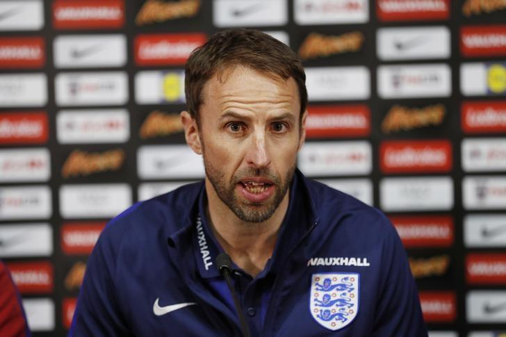 Britain Football Soccer - England Stadium Visit - Hampden Park, Glasgow, Scotland - June 9, 2017 England manager Gareth Southgate during a press conference Action Images via Reuters / Lee Smith Livepic EDITORIAL USE ONLY.