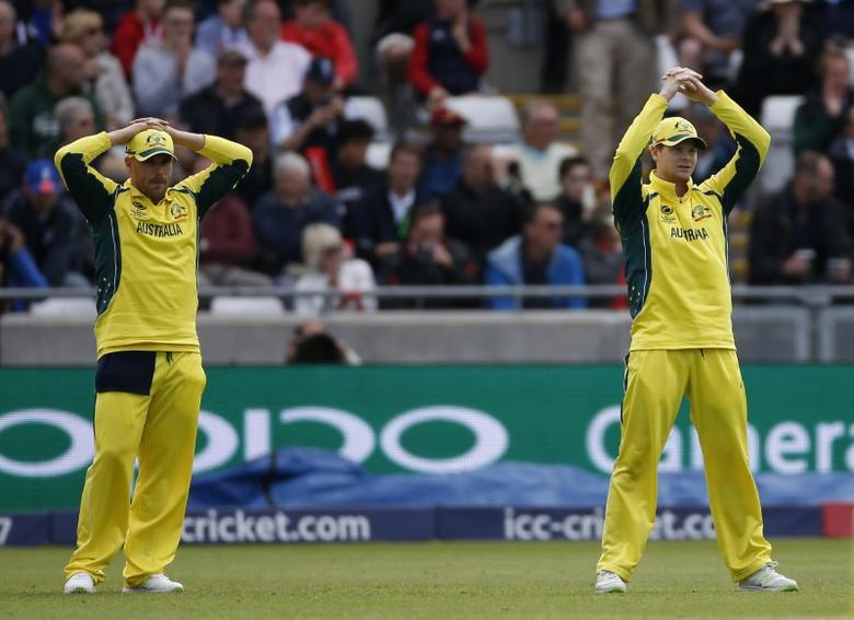 Britain Cricket - England v Australia - 2017 ICC Champions Trophy Group A - Edgbaston - June 10, 2017 Australia's Aaron Finch and Steve Smith (right) look dejected Action Images via Reuters / Paul Childs Livepic