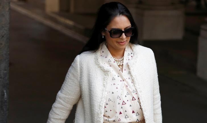 Britain's Secretary of State for International Development Priti Patel arrives at Downing Street in London, Britain June 11, 2017. REUTERS/Phil Noble