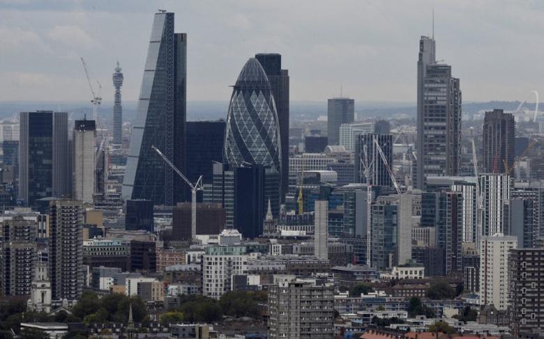 2016年10月19日,英国伦敦,伦敦金融区全貌。REUTERS/Hannah McKay