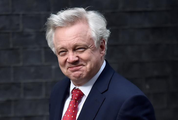 Britain's Secretary of State for leaving the EU David Davis  arrives at 10 Downing Street in London, Britain April 26, 2017. REUTERS/Hannah McKay