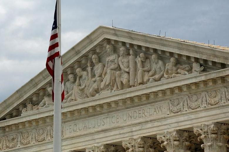 FILE PHOTO: A view of the U.S. Supreme Court building is seen in Washington, October 13, 2015. REUTERS/Jonathan Ernst/File Photo