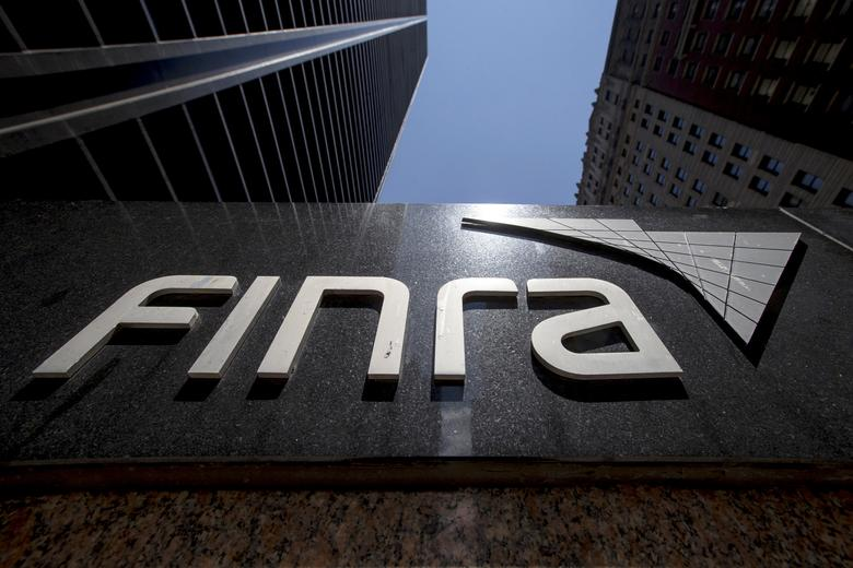 FILE PHOTO --  A sign for the Financial Industry Regulatory Authority (FINRA) is seen outside the offices in New York's financial district July 22, 2015.  REUTERS/Brendan McDermid/File Photo