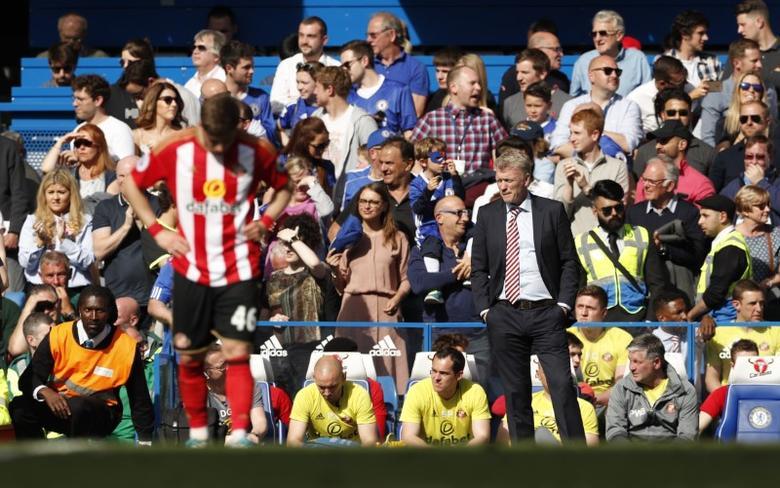 FILE PHOTO: Britain Football Soccer - Chelsea v Sunderland - Premier League - Stamford Bridge - 21/5/17 Sunderland manager David Moyes looks dejected  Action Images via Reuters / John Sibley Livepic