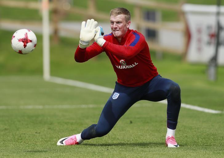 Britain Football Soccer - England Under 21 Training - St Georges Park - June 7, 2017 England's Jordan Pickford during training Action Images via Reuters / Jason Cairnduff Livepic
