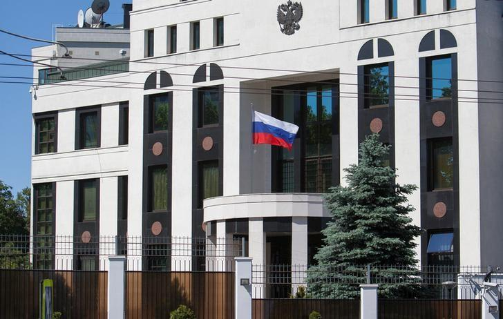 A general view shows the Embassy of Russia in Chisinau, Moldova May 30, 2017. REUTERS/Viktor Dimitrov