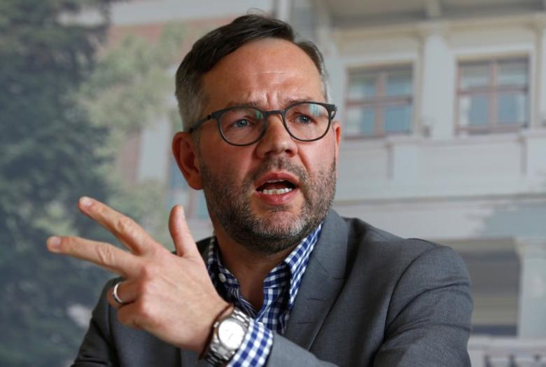 German Deputy Foreign Minister Michael Roth holds a news conference at the German consulate after visiting the Turkish-German journalist Deniz Yucel at Silivri prison in Istanbul, Turkey, in this file photo dated April 4, 2017. REUTERS/Osman Orsal
