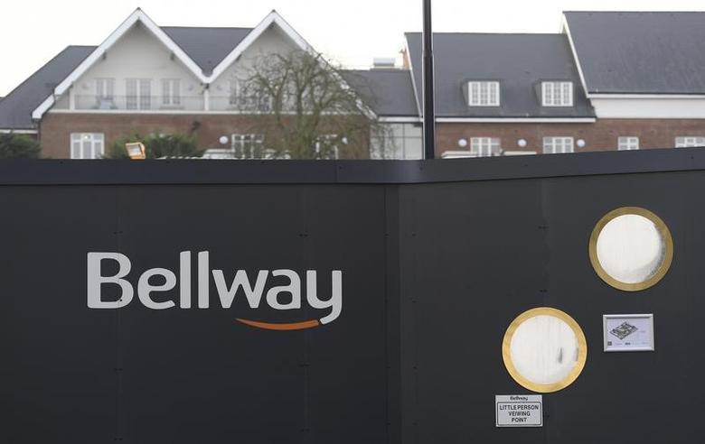A Bellway sign is seen at a housing construction site in London, Britain, February 5, 2017.  REUTERS/Toby Melville
