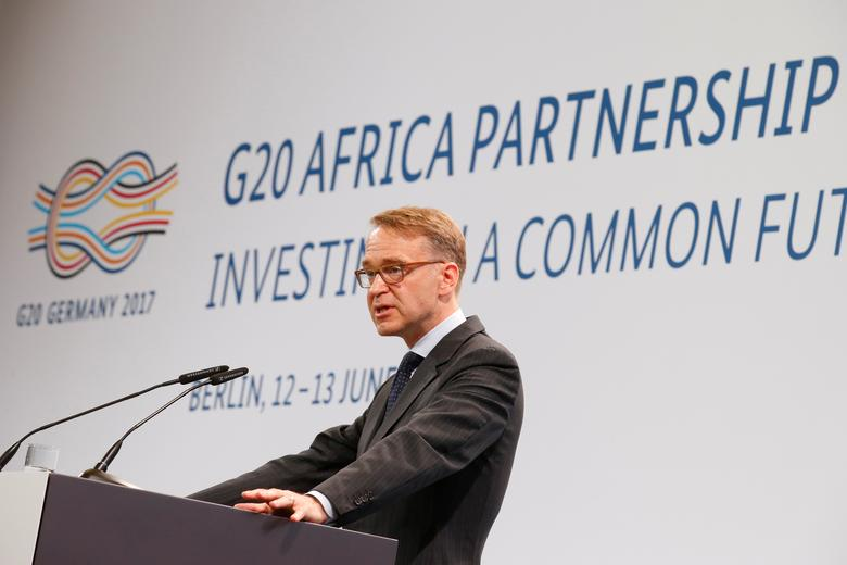 Deutsche Bundesbank (German Federal Bank) President Jens Weidmann gives a keynote to the 'G20 Africa Partnership – Investing in a Common Future' Summit in Berlin, Germany June 13, 2017.    REUTERS/Axel Schmidt