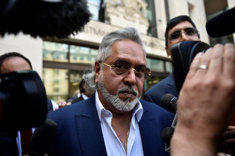 Force India co-owner, Vijay Mallya, leaves after an extradition hearing at Westminster Magistrates Court, in central London, Britain June 13, 2017.  REUTERS/Hannah McKay