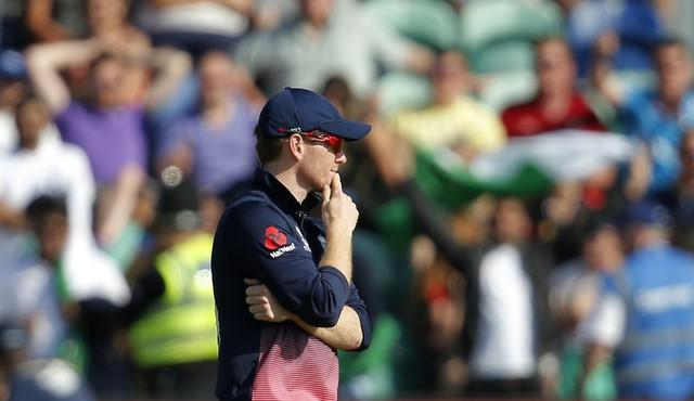 Britain Cricket - England v Pakistan - 2017 ICC Champions Trophy Semi Final - Sophia Gardens - June 14, 2017 England's Eoin Morgan looks dejected after the match Action Images via Reuters / Andrew Couldridge Livepic EDITORIAL USE ONLY.