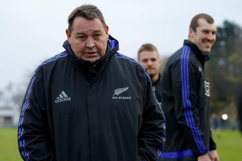 FILE PHOTO: New Zealand All Blacks - New Zealand All Blacks Captain's Run - Stade Jean Moulin in Suresnes near Paris, France - 25/11/16  New Zealand's  Coach Steve Hansen during captain's run the day before their match against France. REUTERS/Gonzalo Fuentes
