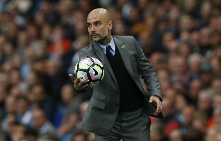 Britain Football Soccer - Manchester City v West Bromwich Albion - Premier League - Etihad Stadium - 16/5/17 Manchester City manager Pep Guardiola Reuters / Andrew Yates Livepic