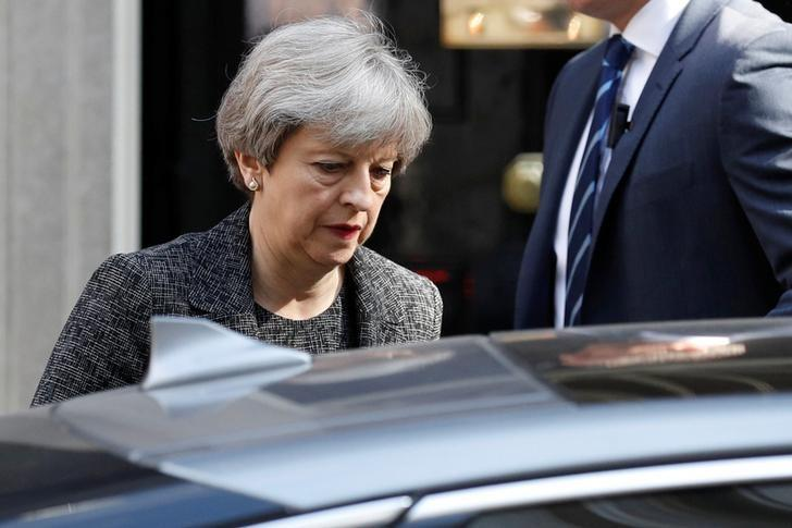 Britain's Prime Minister, Theresa May, leaves 10 Downing Street, in central London, Britain June 15, 2017. REUTERS/Phil Noble